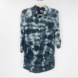 XCVI Tie Dye Top Button Up Size Small